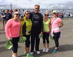 Elliot Whittier staff with Al Petrilli At Marie C Petrilli Walk to Remember