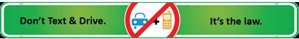 No texting while driving campaign and logo from Plymouth Rock Assurance