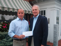 Paul Roy Principal of Elliot Whittier Insurance with Mike Cabral Director of WCAT