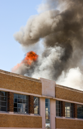 Business closed due to fire, business interruption