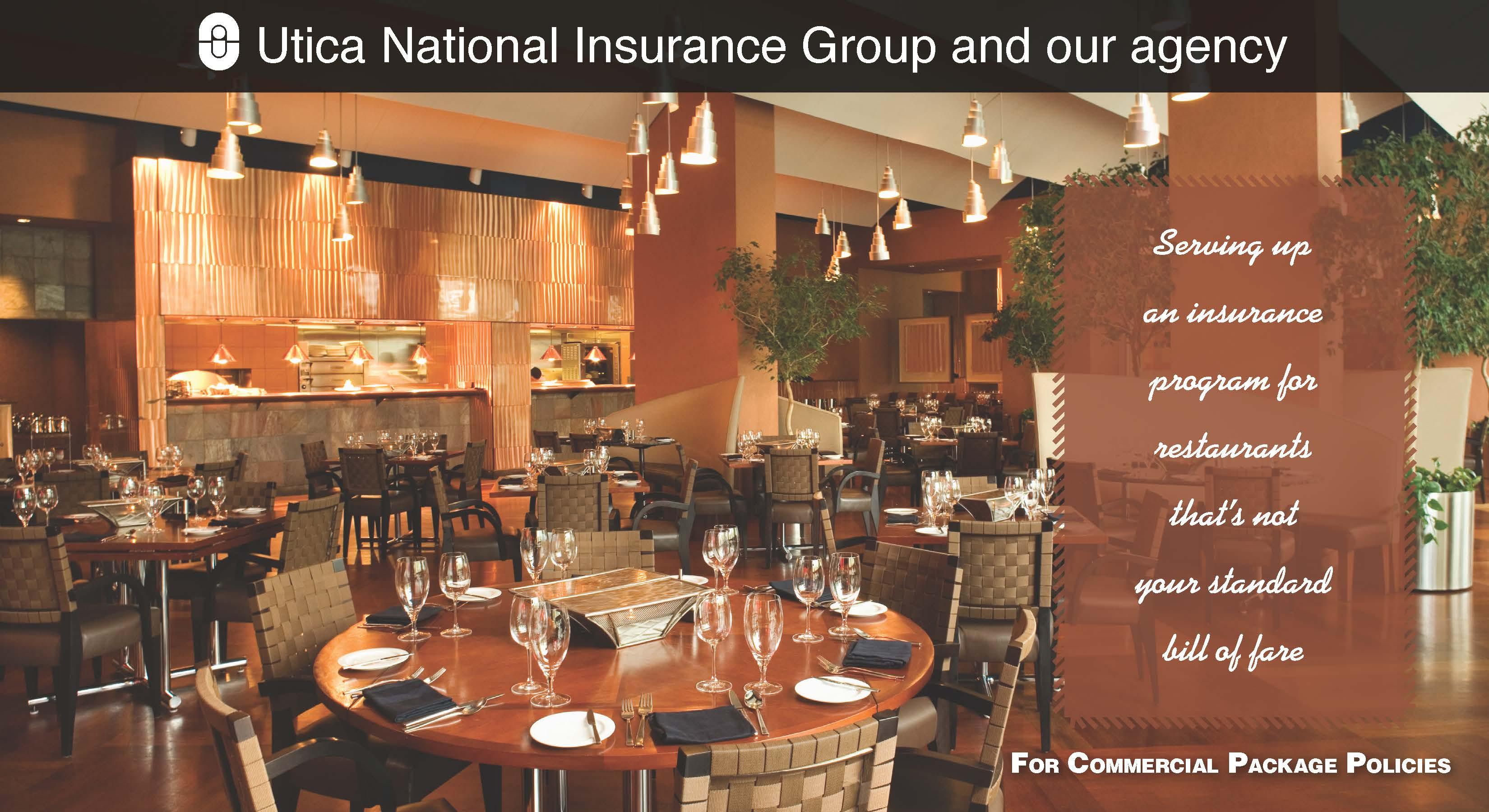 Restaurant Insurance for Massachusetts from Elliot Whittier and Utica Insurance
