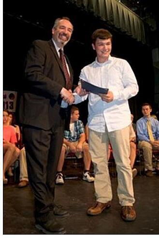 Dr. Gene DiStasio Scholarship recipient Jeremiah Driscoll