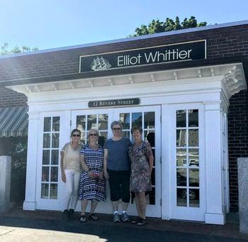 Christine Millerick OKeefe with CASA Winthrop Board Members Diane Wallace Mary Lou Osborne and Linda Vecchia