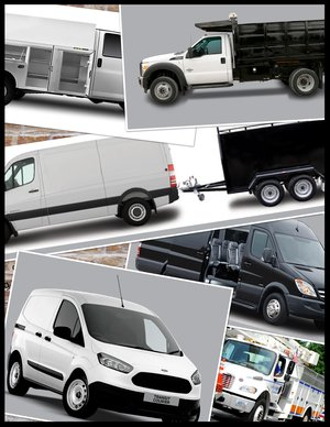 Commercial vehicle collage