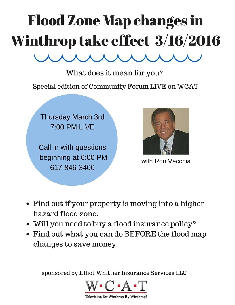 what do the flood map changes in Winthrop mean and can I save money on flood insurance