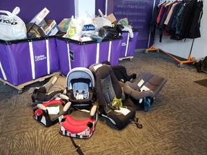 Cradles to crayons car seat donation