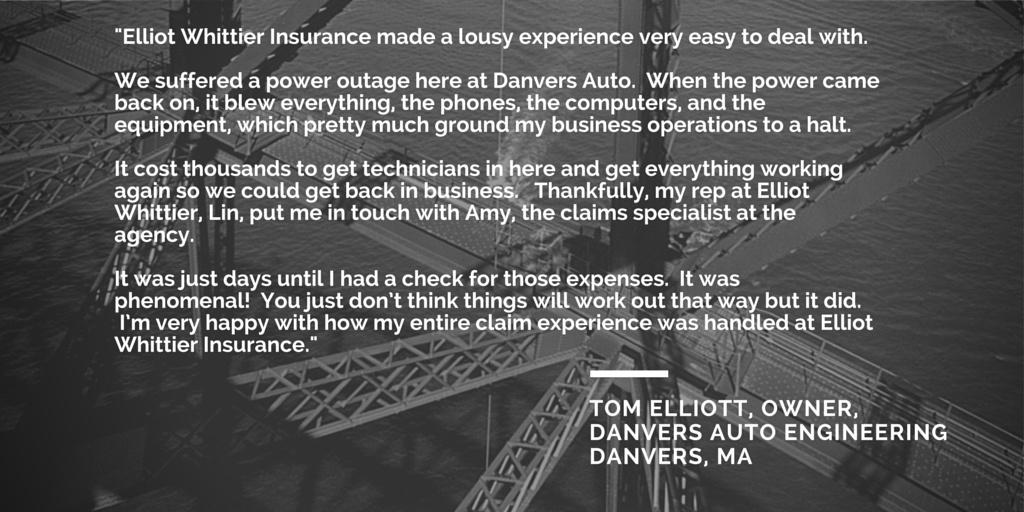 Reviews of business insurance agency for Elliot Whittier Insurance