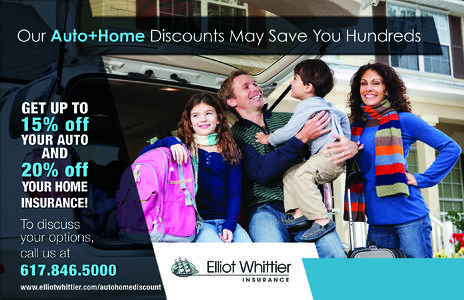 Home and auto insurance discounts in Massachusetts