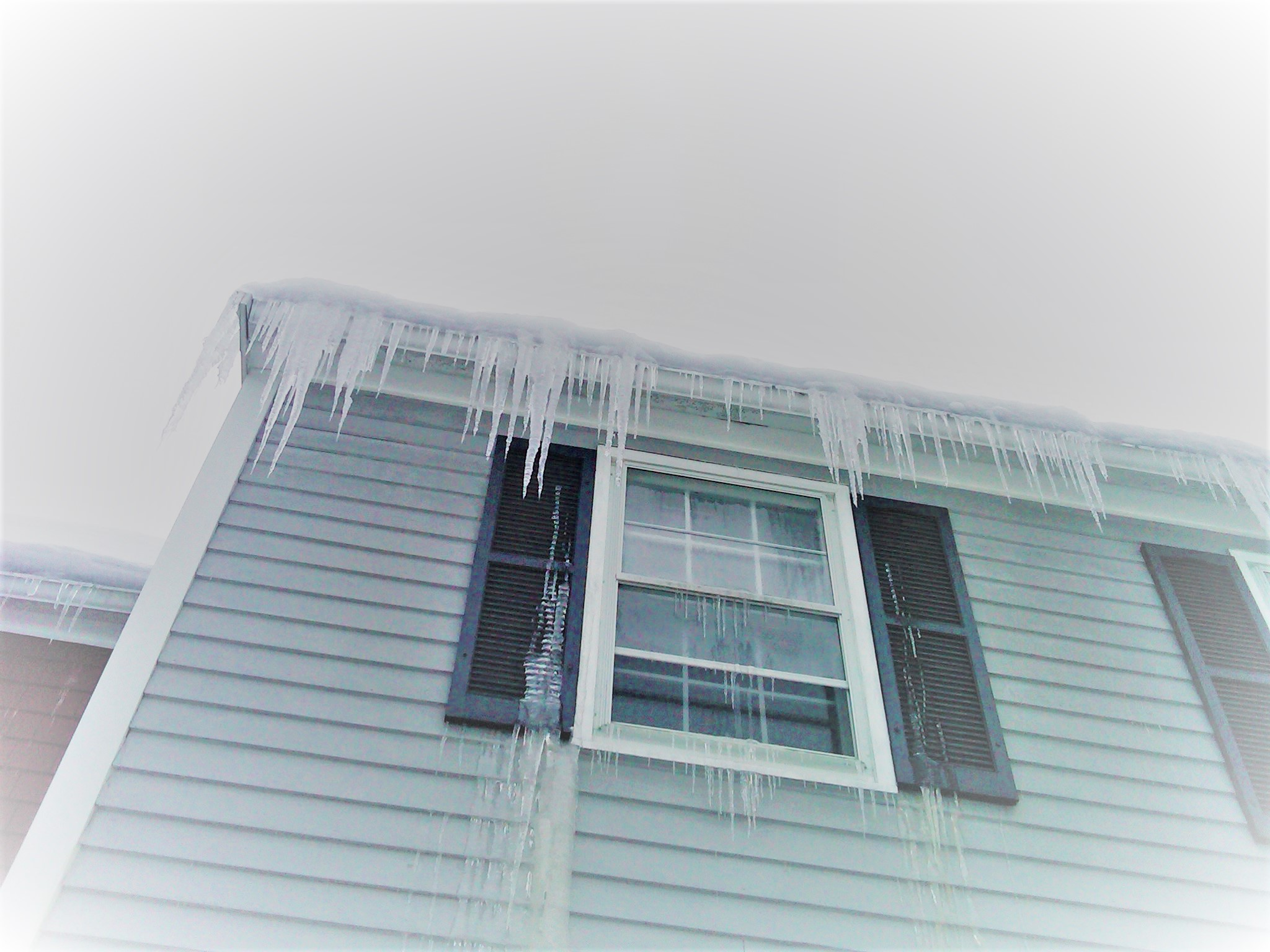 Ice Dams can bring damage to your property.  Icicles are one indicator of ice dams.