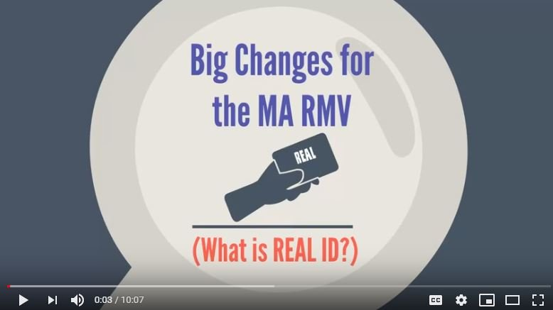 Big changes for the MA RMV and REAL ID Do you need a REAL ID