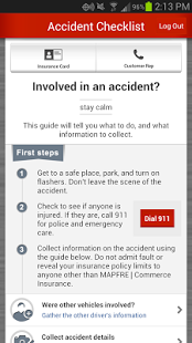 The Insurance Company's Mobile App - 5 Things you can do